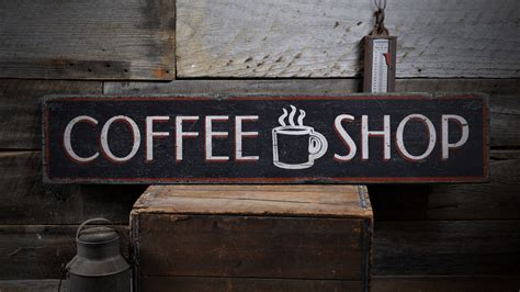 coffee shop signage design coffee shop sign coffee shop decor wood coffee sign wood