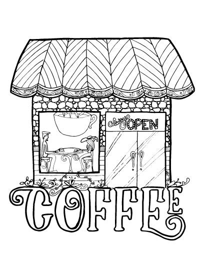 coloring shoo coloring pages for coffee and crafters
