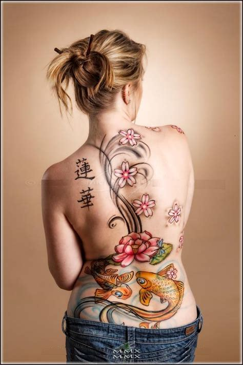 tattoo tribal costas feminina tatuagem de carpa nas costas femininas veja modelos