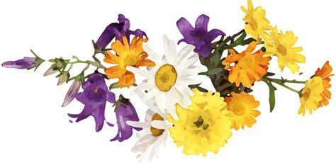 C 0225 Kaos Flowers In 花のイラスト フリー素材 フレーム枠no 225 白 黄 紫 オレンジ
