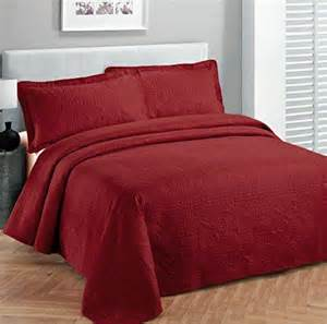 California King Size Bedspread Fancy Collection 3pc Luxury Bedspread Coverlet Embossed