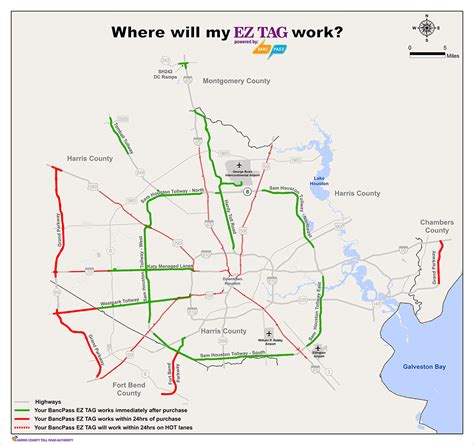 texas toll road map ez tag houston map