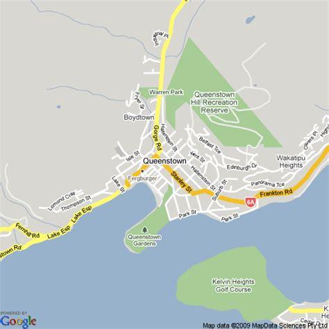 printable map queenstown map of queenstown travelquaz com