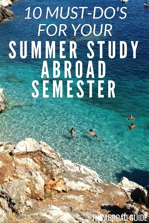 10 Things I Enjoy Doing During The Summer by 17 Best Images About Tips For Study Abroad On