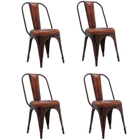 eight industrial metal dining chairs at 1stdibs set of four industrial chairs for sale at 1stdibs