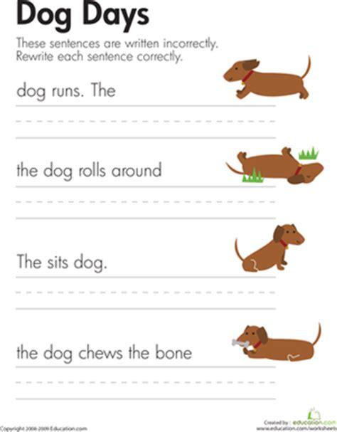 fix the sentences dog days worksheet education com