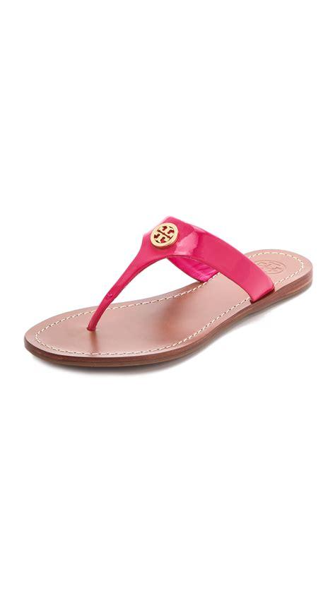 burch pink sandals burch cameron sandals in pink lyst