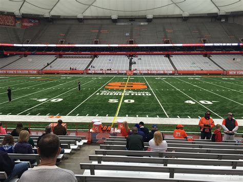 football section carrier dome syracuse seating guide rateyourseats com