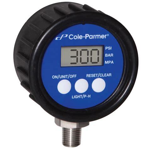 Manometer 3000 Psi cole parmer digital pressure 0 to 3000 psi 2 5 dia 1 4 npt m from davis instruments