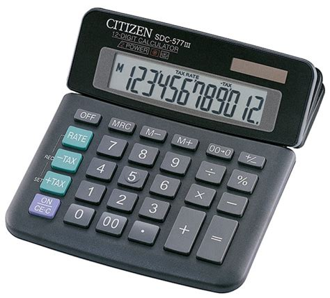 Kalkulator Citizen 12 Digit Calculator Berhitung Citizen Sdc 868l office calculator citizen sdc 577iii 12 digit 164x150mm