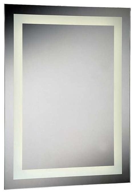 Flat Bathroom Mirrors Eurofase Lighting 29108 Rectangular Shaped Flat 1 Light Led Mirror Contemporary Bathroom