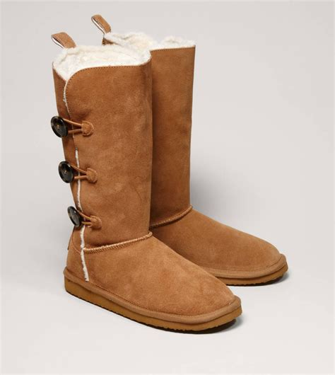 fuzzies boots aeo button warm fuzzy boot from american eagle all