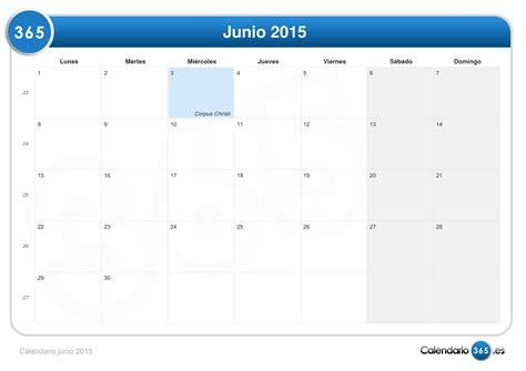 Calendario Lunar Junio 2015 Calendario Junio 2015