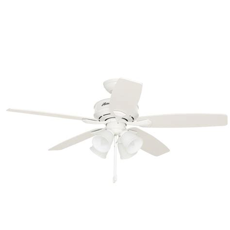 hunter oakhurst white ceiling fan hunter oakhurst in indoor low profile white ceiling fan