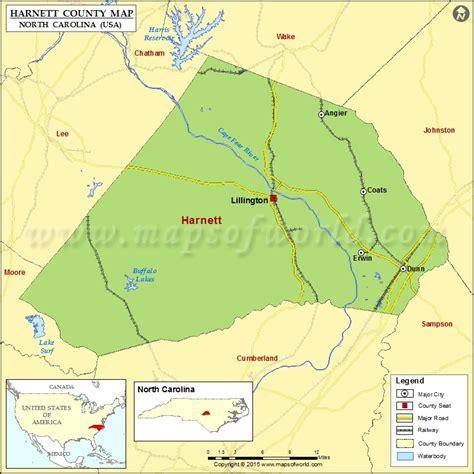 map of carolina usa harnett county map carolina