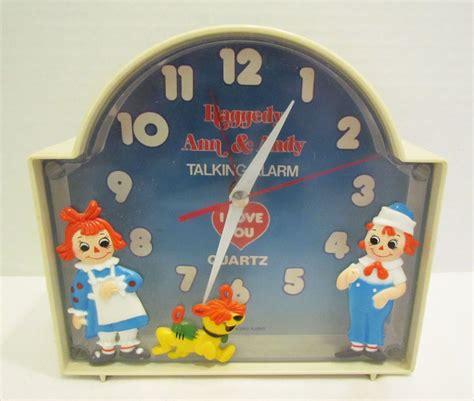 raggedy andy arthur talking alarm clock 1970 s vintage still works raggedy raggedy