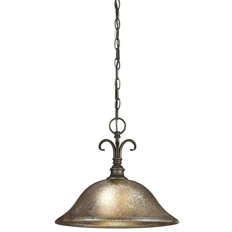 Seagull Lighting Pendant Sea Gull Lighting Blayne 1 Light Platinum Oak Pendant With Mercury Glass 6570401 736 The Home