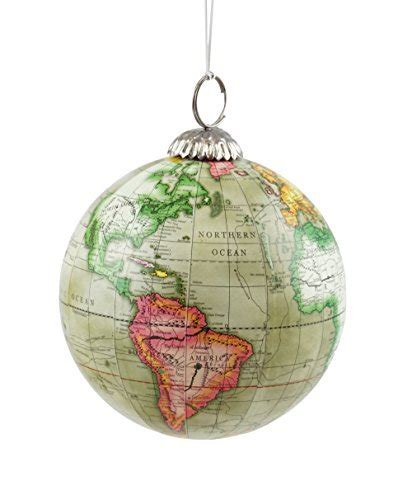 designer tree ornaments world map globe hanging tree ornament by creative co op ornaments