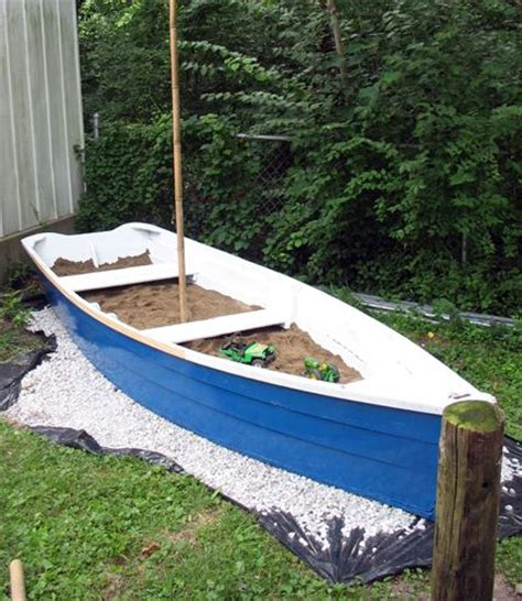 blue boat sandbox top 20 ideas about recycle boat on pinterest gardens