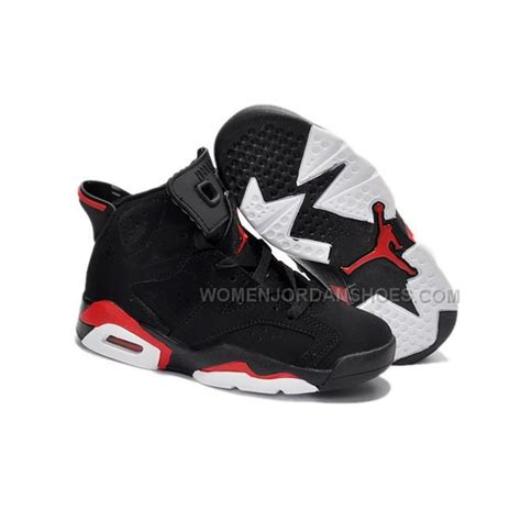 jordans shoes for kid air 6 black infrared basketball shoes 10021