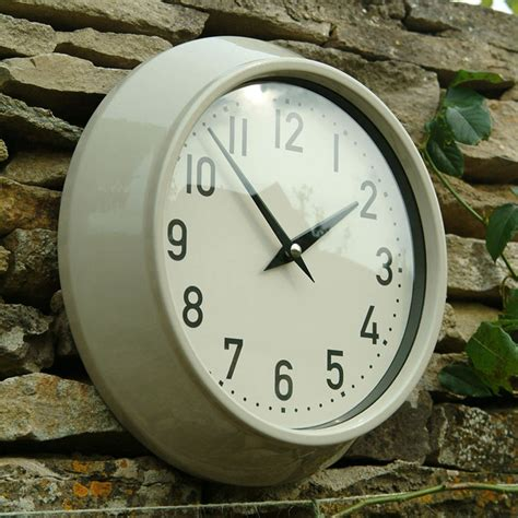 large metal outdoor clock clay