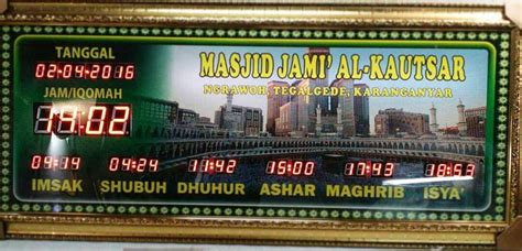 Jam Digital Masjid 13 sukoharjo archives page 3 of 13 pusat jam digital masjid murah bergaransi