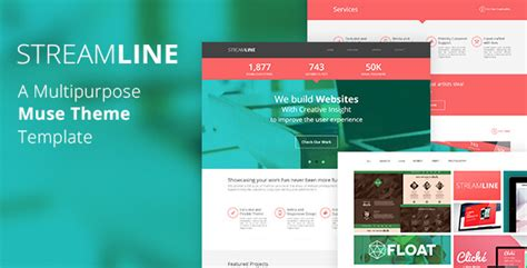 muse themes facebook preview streamline a multipurpose muse template by tornadador