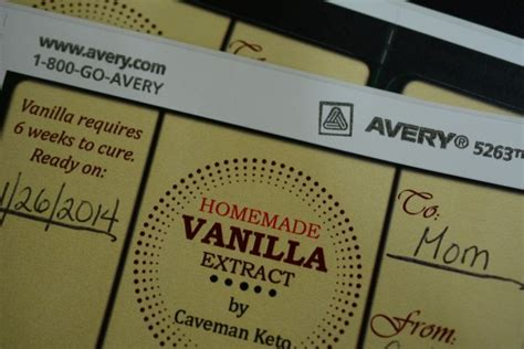 vanilla extract label template vanilla caveman keto