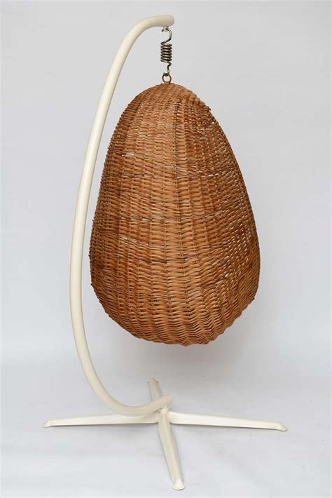 hanging wicker chair hanging wicker egg chair at 1stdibs