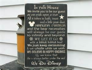 Wood Wall Decor Sayings In This House We Do Disney Paging Fun Mums