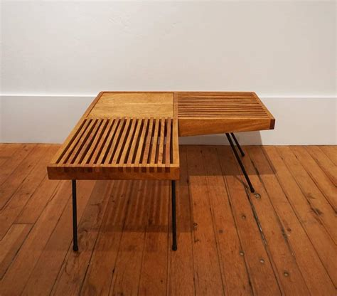 l shaped bench 1950s mahogany and iron corner l shaped slat table or bench at 1stdibs