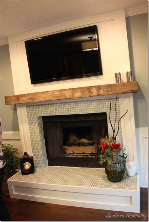 The Lettered Cottage Fireplace Makeover by Diy Fireplace Surround Glass Tile Woodworking Projects
