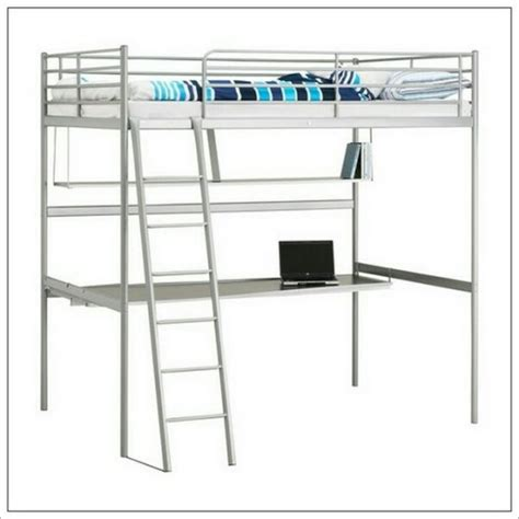 Bunk Bed Shelf Ikea Ikea Svarta Loft Bed Frame With Desktop And Shelf For Sale In Summerhill Meath From Markim