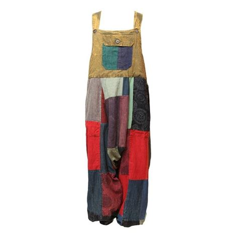Patchwork Dungarees - patchwork harem dungarees the hippy clothing co