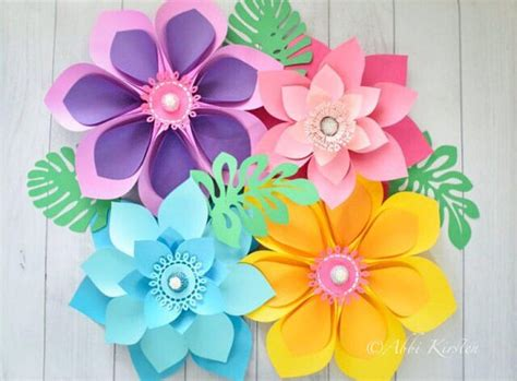 Giant Hawaiian Paper Flower Templates Tutorial Paper Flower Hawaiian Flower Template