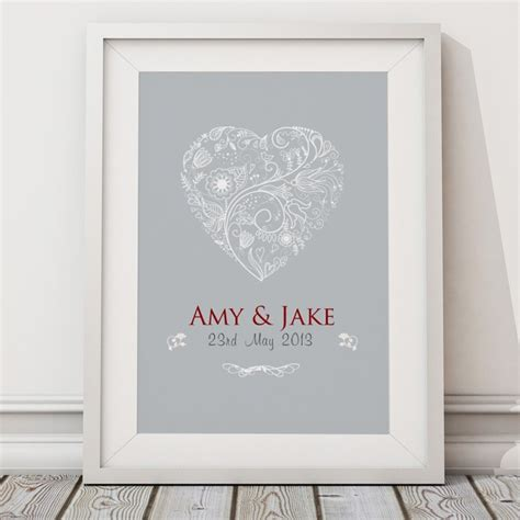 Wedding Prints by Personalised Wedding Print Canvas