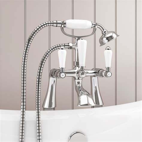 traditional bath shower mixer lancaster traditional freestanding chrome bath shower
