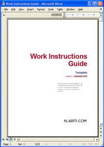 work instruction how to write format and publish work
