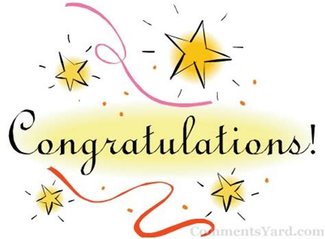 congratulations with stars