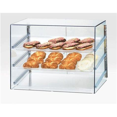 Countertop Glass Pastry Display by Cal Mil Display Size Bakery 3 Shelf