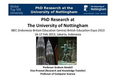 Phd Research Proposal At The University Of Nottingham Phd Research Presentation