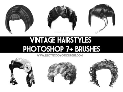 Hairstyle Photoshop Brushes by Vintage Hair Brushes By Wackycracka On Deviantart