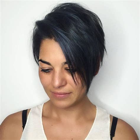 how to highlight a short pixie haircut long straight pixie cut for fine black hair with subtle