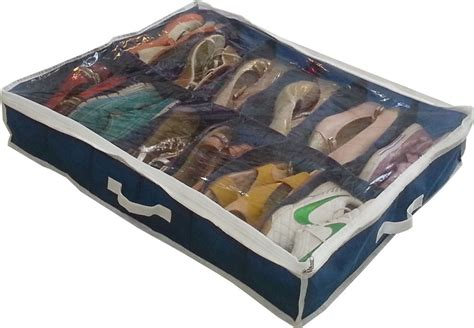 4x shoe organizer closet under bed storage as on tv ebay home storage household shoe box 12 cells underbed foldable