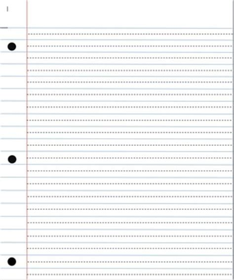 printable lined paper with dotted midline this paper has been recreated to look like notebook paper