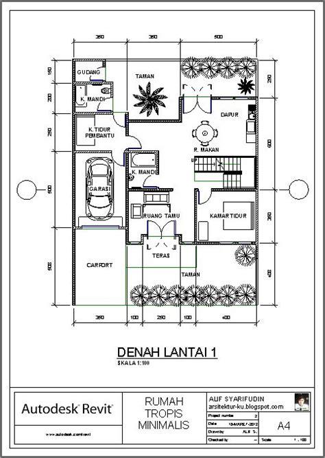 denah rumah 4 kamar tidur satu lantai rumah minimalisku