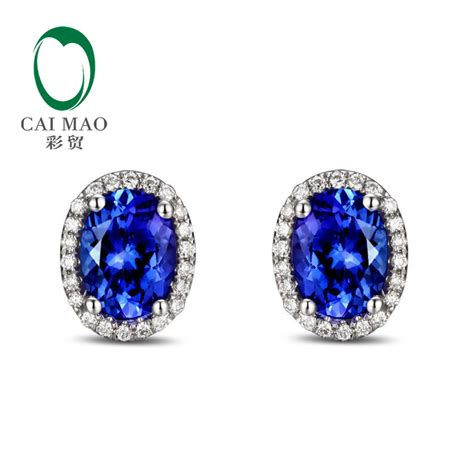 Engagement Earrings by Aliexpress Buy 14k White Gold 3 12ct Violetish Blue