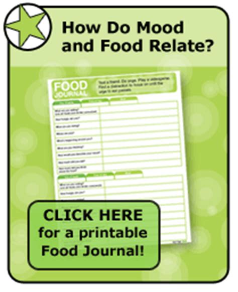 printable food journal eating disorder emotional eating