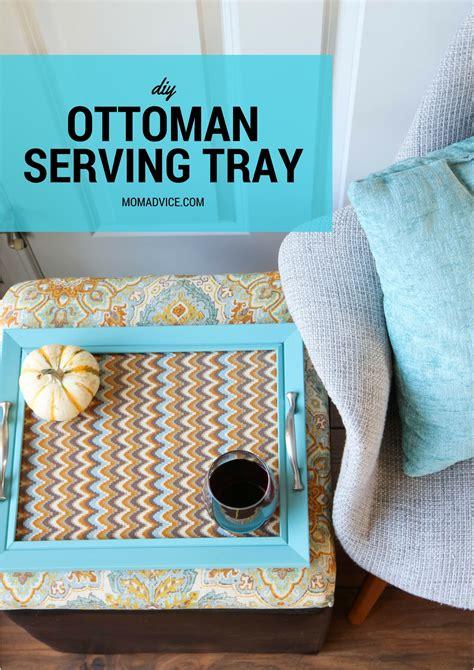 ottoman wrap tray diy ottoman tray diy wrap around ottoman tray be my