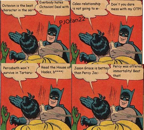 Batman And Robin Meme - percy jackson batman slaps robin memes by pjofan22 on